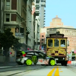 Gymkhana FIVE: Ultimate Urban Playground; San Francisco from Ken Block and DC is the newest video in the series which features some amazing stunts, drifts, and jumps around SF.