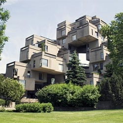 What started as a student project more than four decades ago has now been designated a heritage site by the Quebec government.  Habitat 67 by Moshe Safdie.