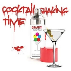 graffiti cocktail shaker by william kellogg