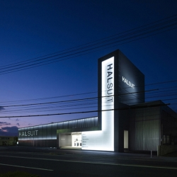 "NENDO designed ""HALSUIT"" design concept; A concept shop for high-volume mens suit retailer Haruyama...."