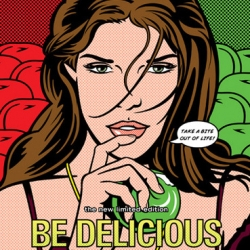 "Estee Lauder found Brad Hamann via theispot.com and commissioned him to create limited edition Pop Art for DKNY's ""Be Delicious"" fragrance."