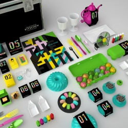 Fortnum & Mason hamper concept based on Marinetti's 'La Cucina Futurista' with a quirky Kitsch design approach.