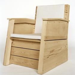 Eric Jourdan's Hampton's Chair evokes the utilitarian aspects of Enzo Mari as well as the sleek stylings of aviation.