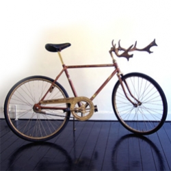 "Found these on Sci Fi tech - There are handle bars, and then there are handle bars... can't you see two guys fighting antler to antler on these? By Jenny Nordberg, ""King of the Road""."