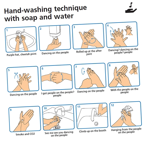 "WashYourLyrics.com will ""Generate hand washing infographics based on your favorite song lyrics"" - Anything to get everyone washing their hands more/better?"