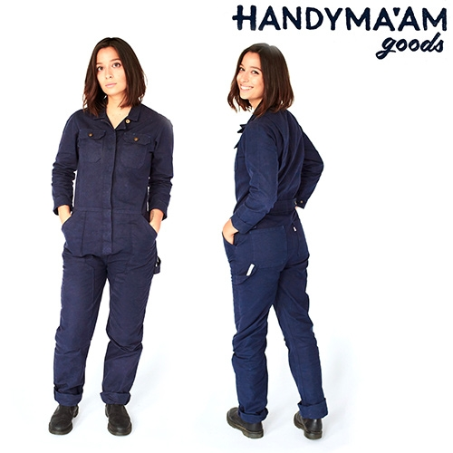 "Handyma'am Goods - ""Women have a long but seldom recognized place in trade work and it's about time we have proper workwear that is not only functional but feminine."" Coveralls are coming soon!"