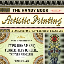 designer Angela Voulangas' portfolio includes the beautiful book 'The Handy Book of Artistic Printing: A Collection of Letterpress Examples' which she coauthored and designed with Doug Clouse.