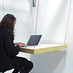 HangTable, a suspension table and coathanger designed by Victoria University of Wellington students.
