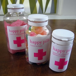 Happy Pills - A sweet twist on packaging and branding from a small candy shop in Barcelona.