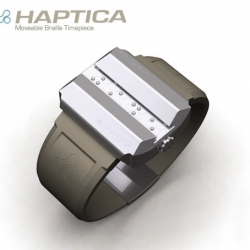 hepatica, by david chavez, is an amaizing braille watch, winner of a spark award