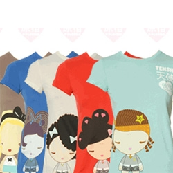 While i am not a harajuku girl... there is something painfully cute about these tshirt characters...