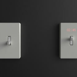 "Designed by New York designer Harc Lee, Time Switch is a wall clock that was designed to resolve the designers own frustration with meeting deadlines and wanting to ""stop time."""
