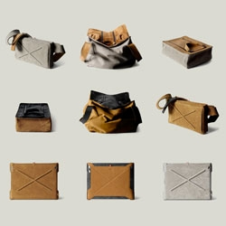 Hard Graft launch new bags for fall including TheSquare1 Holdall, The Personal Pouch and a Dopp Kit.