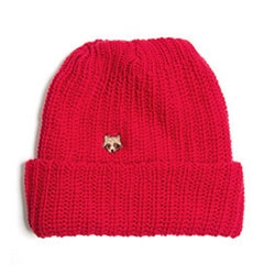 Owner Operator's Cotton Watch Cap beanie has the cutest little raccoon