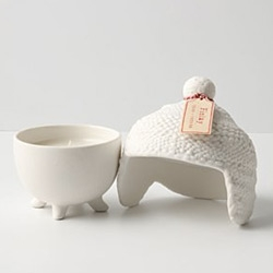 Absolutely adorable Ski Cap Candles in porcelain from anthropologie