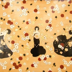 Feminine and floral, art by Eriko Hata.