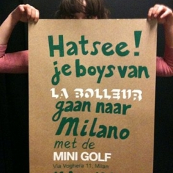 Hilarious poster from the guys from La Bolleur to announce that they're going to Milan.
