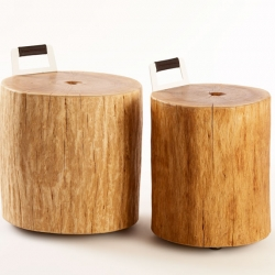 Estonian Woodoo (brothers Ken and Jan Graps) have designed some pretty cool stools from the stumps of Estonian oak.