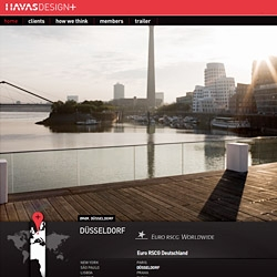 The Havas communication group now offers an international design network with a great Flash website letting the user have a fresh view of cities around the globe. The world never sleeps, neither does 'Havas Design +'