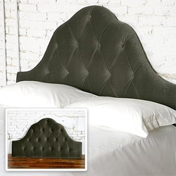 Cute headboard - Velvet Tufted Headboard in Pewter