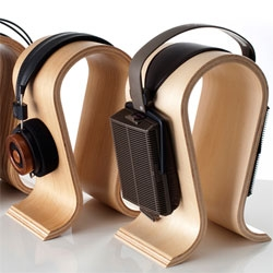 Sieveking Sound Omega Headphone Stands gorgeous bend wood and german made...