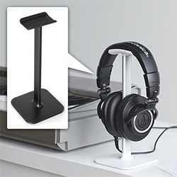 Bluelounge Posto Headphone Stand - the key is the flexi-rubber top! This has become a part of our desktop that we use far more than I would have expected.