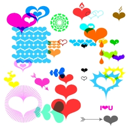 Groovy Valentine's Day Font  HEARTS