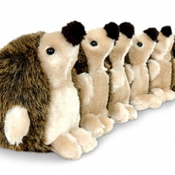 "so you have a draft, or need to keep things from seeping out of your dorm room? - why not use an army of hedgehogs? ""Hedgehog Draught Excluder"""