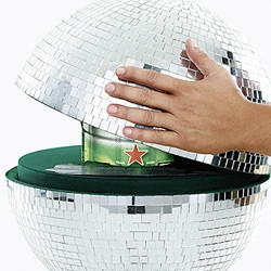 Heineken Disco Ball KEG: To make party at home.
