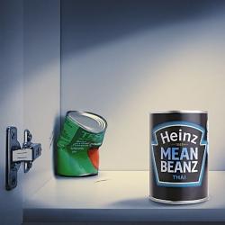 Heinz mean Beanz. By Leo Burnett, London.