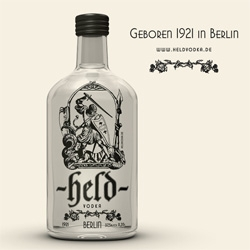 Held Vodka ~ adorably packaged Berlin discovery! It's a local vodka with a lot of history, but the bottle and graphic are what pulled me in first for sure!