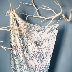 Poetic landscapes have been created by 4 graphic designers for an original silk scarves collection inspired by nature for ToutvaBien-design.