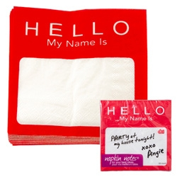 DCI Hello my name is... napkins!
