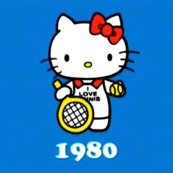 For the 35th anniversary of Hello Kitty, Sanrio has put together an overly cute animated promo showing Hello Kitty's evolution through the decades....
