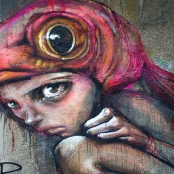 Unique street art by the German collective known as Herakut.