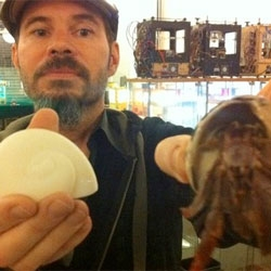 MakerBot artist-in-resident Miles Lightwood makes 3D printed shells for homeless hermit crabs.