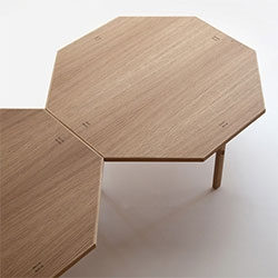 Punt's Niza wooden octagonal coffee table, designed by José Martínez-Medina
