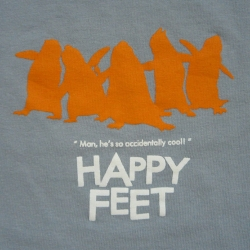 oO shares HAPPY FEET/ANIMAL LOGIC shirt designs with us!