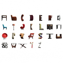 This furniture typeface is simply beautiful ~ made by  The Butler Bros for High Fashion Home