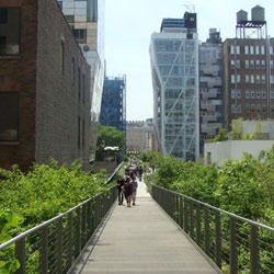 Section 2 of New York City's High Line, designed by James Corner Field Operations and Diller Scofidio + Renfro, opened today! The new section of the elevated park includes a thicket, wildflower field, lawn, and more.