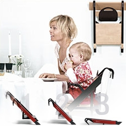 Minui HandySitt ~ brilliantly simple/portable high chair ~ a timeless danish design