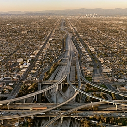 Highway #5 by Edward Burtynsky.  An exhibition of photographs for the 2011 Prix Pictet photography and sustainability competition takes place in Paris at the Passage de Retz beginning March 17th.