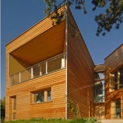 The Hillside House in Weidling, Austria.  Designed by Syntax Architects.