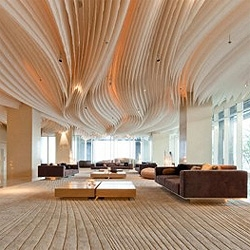 Sinuous shapes and sleek materials for the common areas of the new Hilton Pattaya in Thailand, designed by local firm Department of Architecture