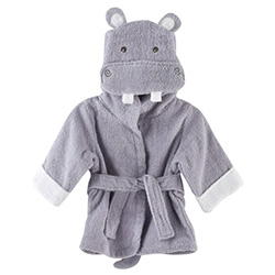 """Hug-a lot-amus"" Hooded Hippo Bath Robe for babies..."