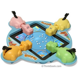 "Hungry Hungry Hippos for iPad? You can never tell with ThinkGeek ~ ""The original Hunger Game returns."""