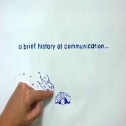A brief history of communications. Yes...you only have an iPhone because thousands and thousands of years ago...trimmm  trimmm...ups...sorry...phone call ...watch the video...bye! :)