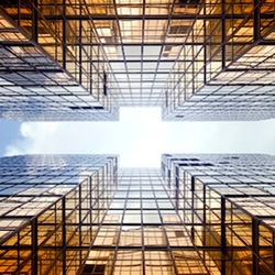 Vertical Horizon by photographer and graphic designer Romain Jacquet-Lagrѐze is a series dedicated to the skyscrapers of Hong Kong.