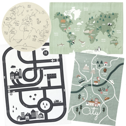 H&M Kid's Rugs - super affordable 100% cotton rugs with non-slip backings and simple, educational graphics. Have been loving these for the NOTkid as play mats.
