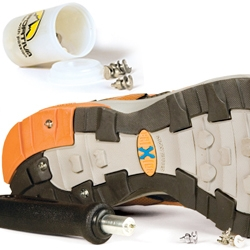 Sportiva Hobnails ~ Screw in/out high-end metal studs for traction in icy and snowy conditions for your running shoes/etc - inspired by rally car tires!